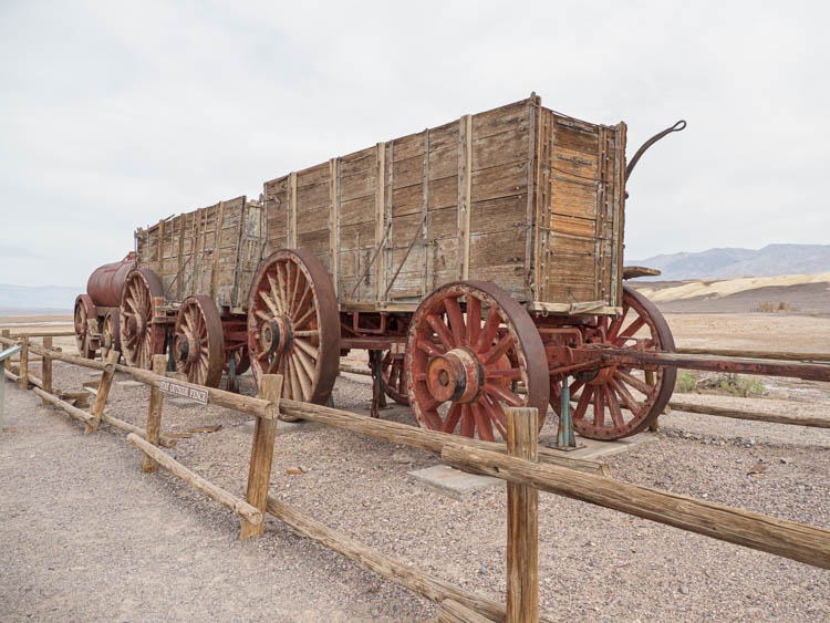 Harmony Borax Works Death Valley. Train car