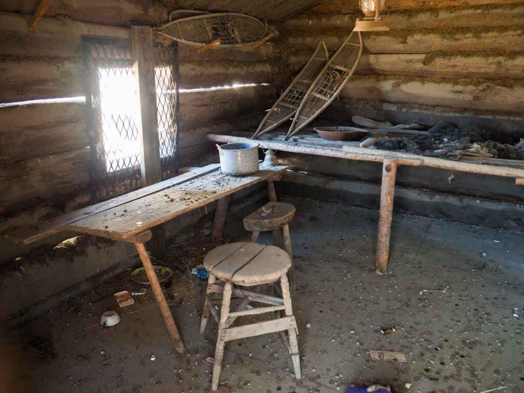 Jack London square Oakland. Miner cabin
