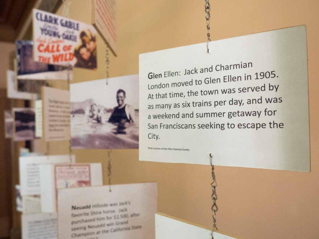 Jack London State Park exhibit