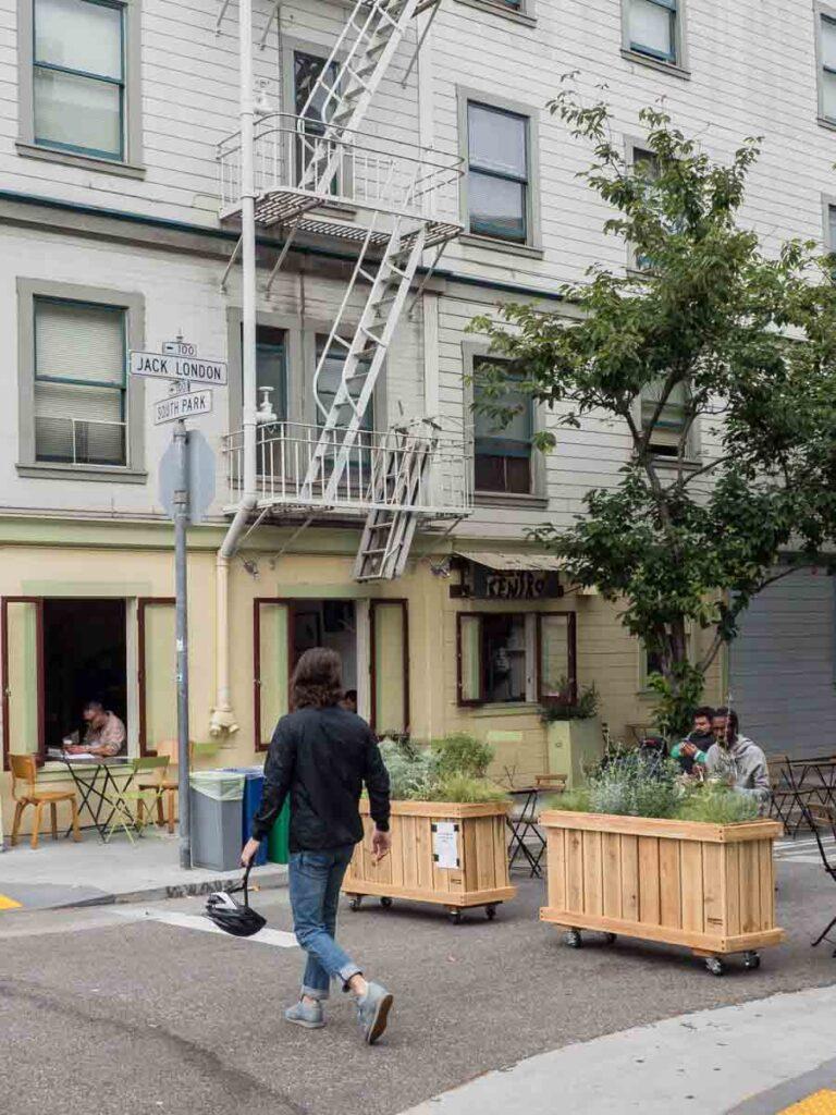 Jack London street in San Francisco