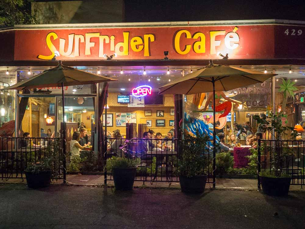 California Santa Cruz Surfrider Cafe