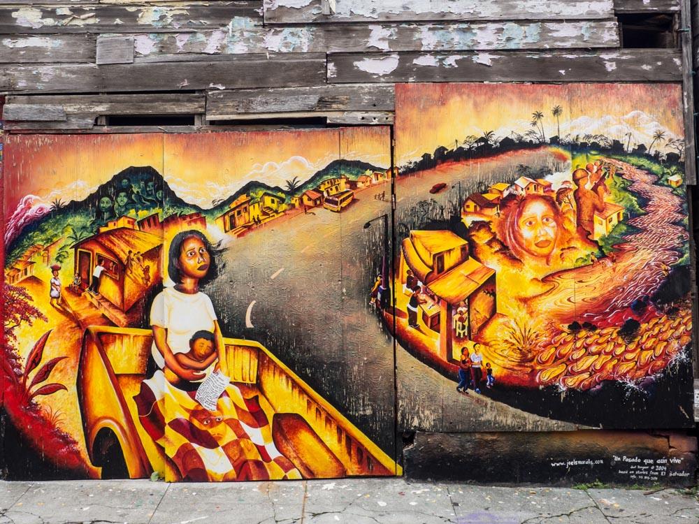 Balmy Alley mural Mi Amor Love Letter