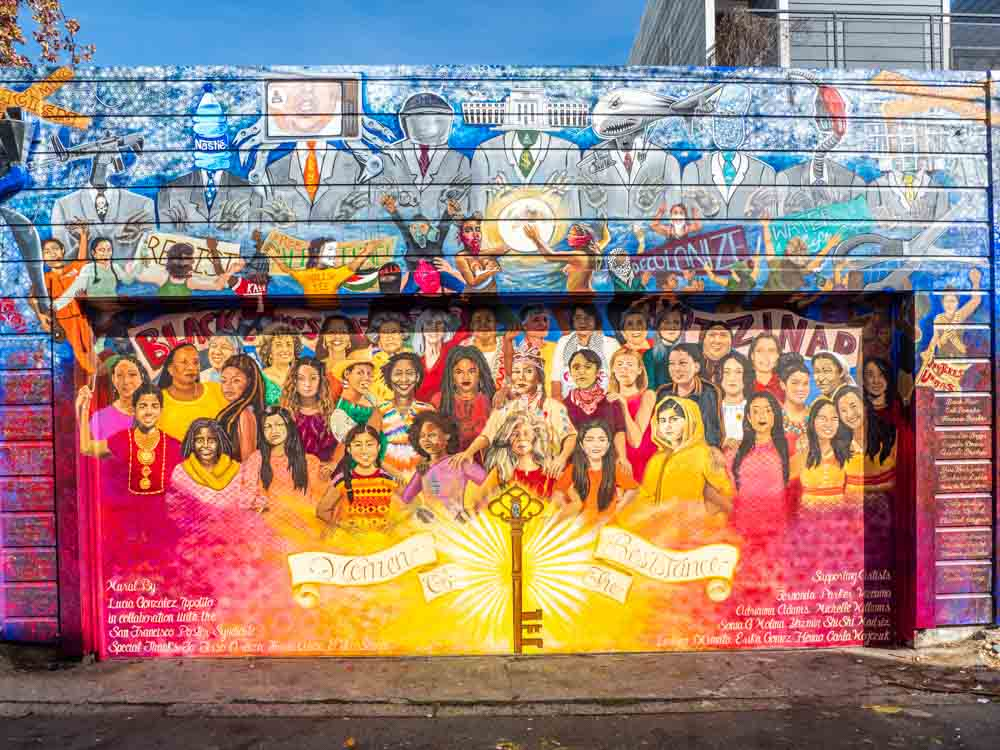Mission District Mural titled Women of Resistence