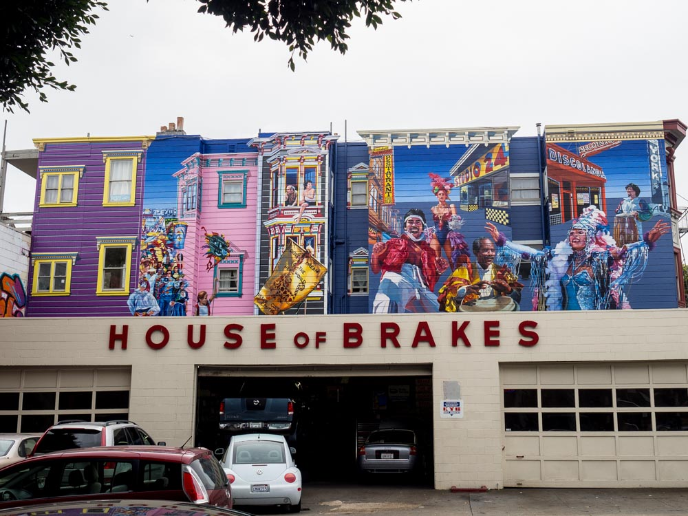 SF mural at House of Brakes