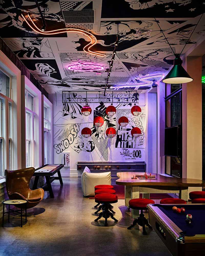San Francisco Hotel Zepplin Downstairs Event Space