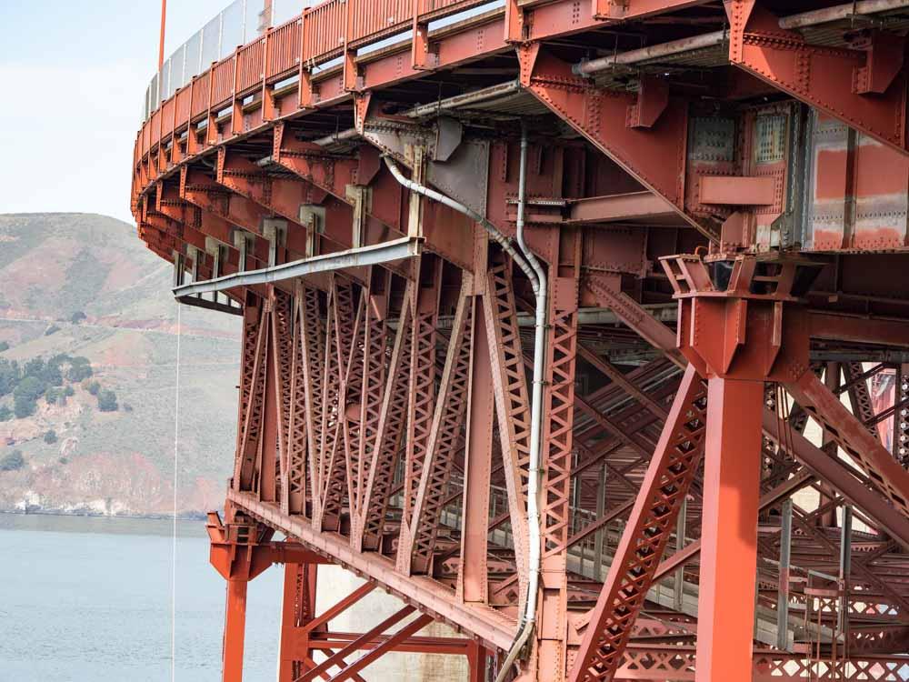 Golden Gate Bridge- under the west side