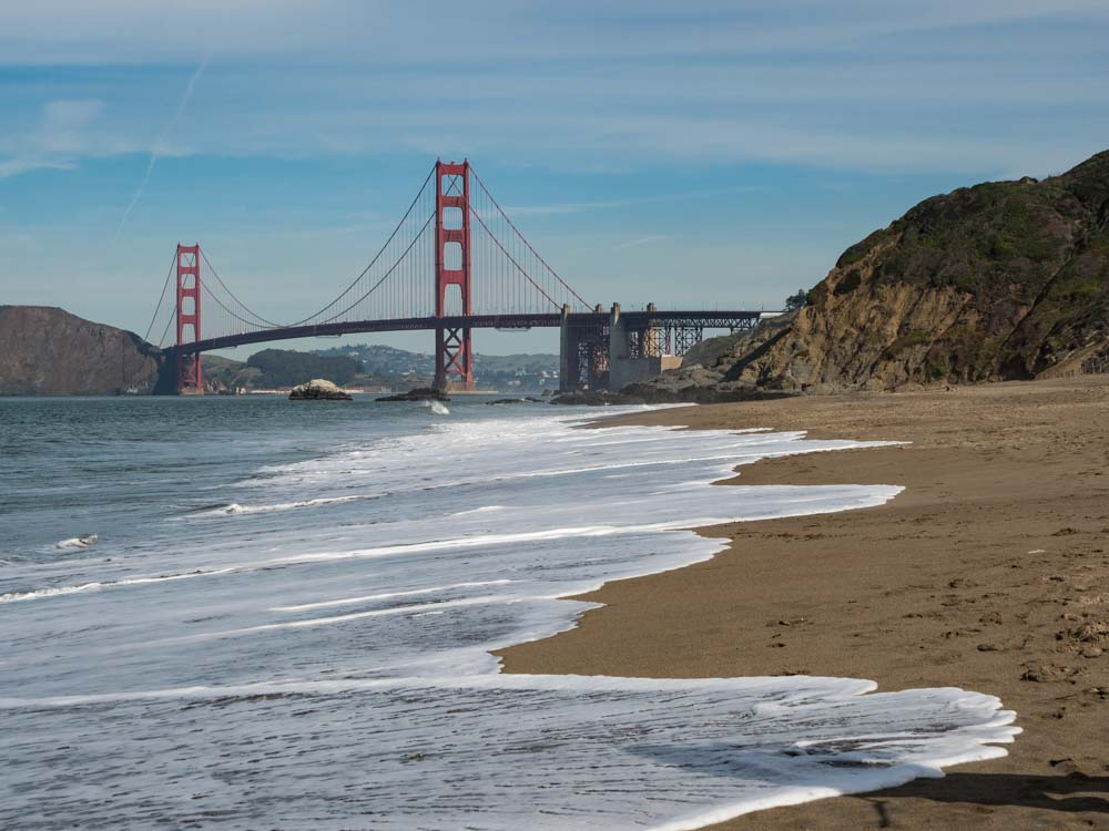 Golden Gate Bridge view from Baker Beach