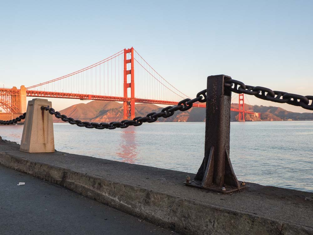 Golden Gate Bridge San Francisco from Fort Point
