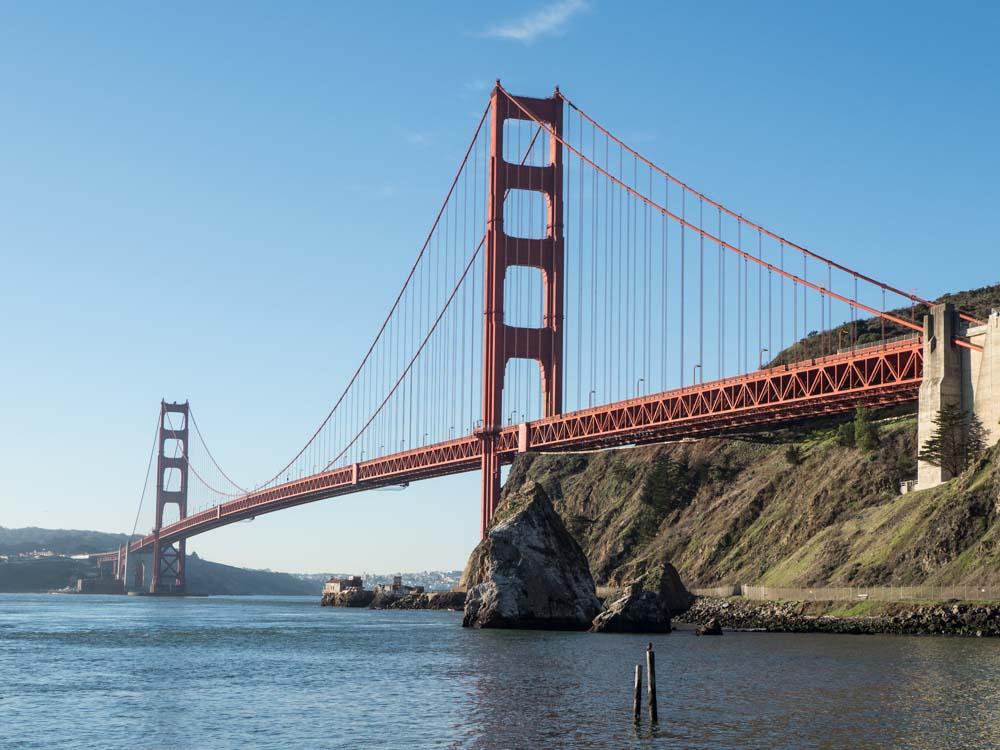 Best view of Golden Gate Bridge: Fort Baker