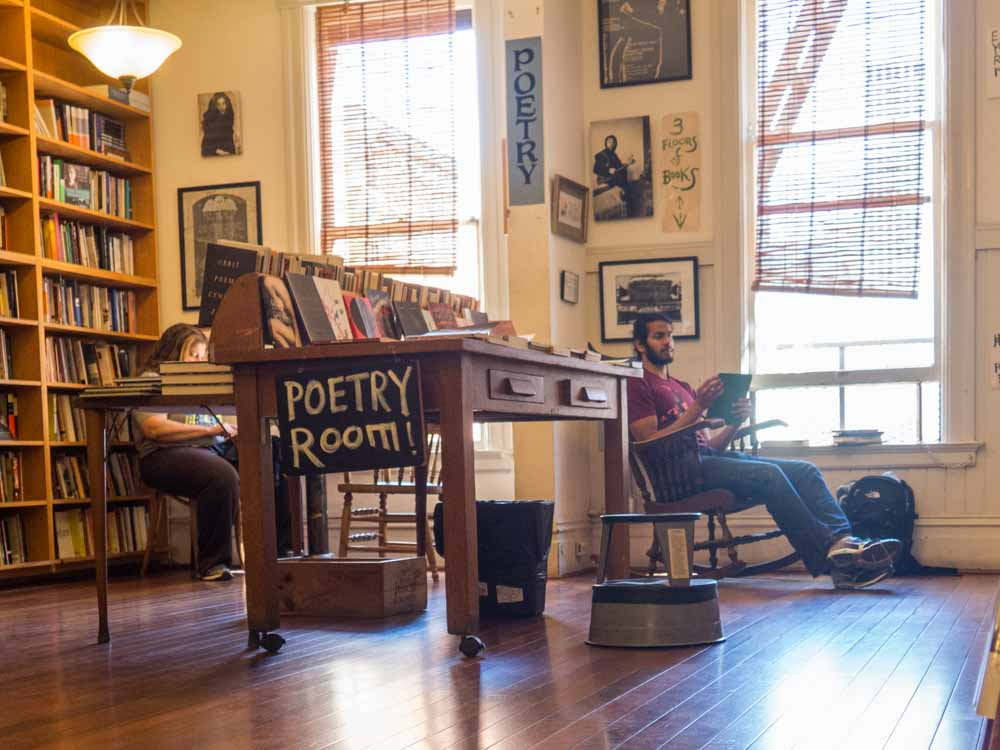 City Lights Bookstore North Beach SF. Reading Room