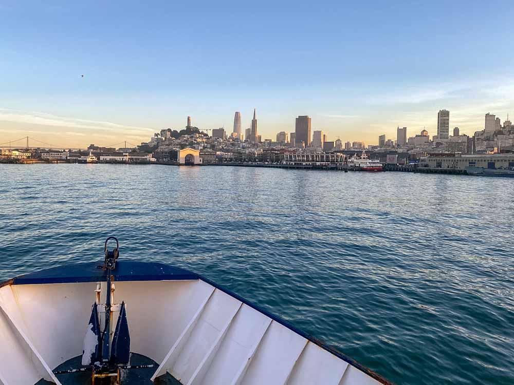 Angel island ferry: San Francisco view