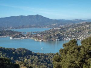 Angel Island State Park: view of Tiburon
