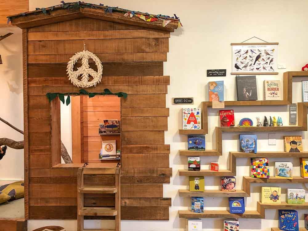 Blackbird Books in San Francisco. Children's books on shelf