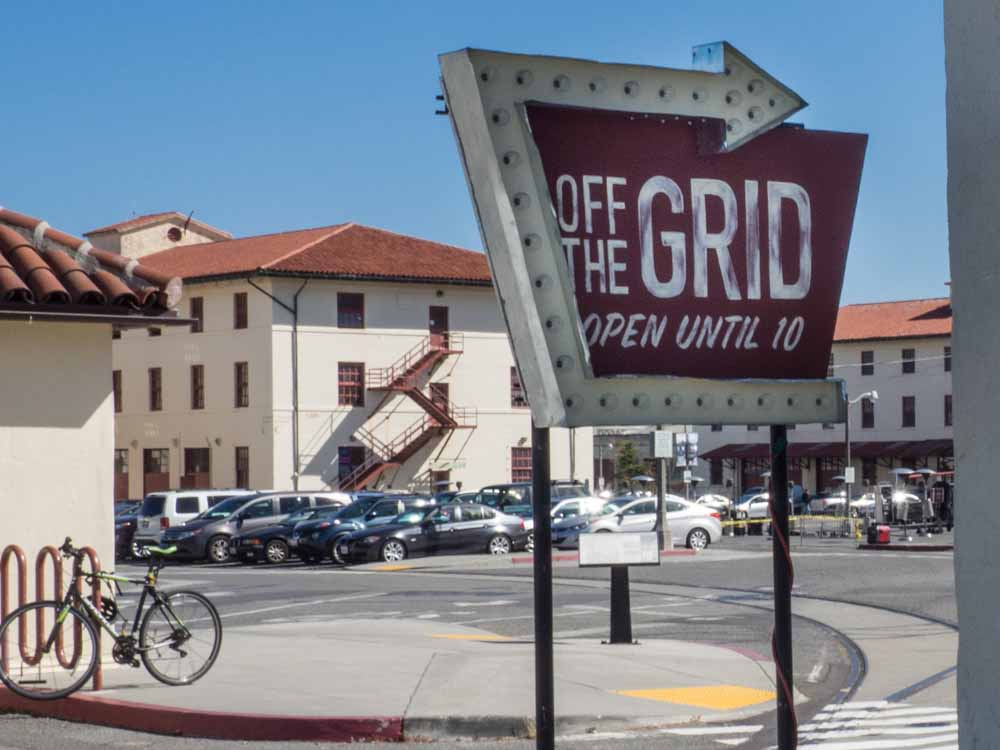 Off the Grid sign- San Francisco food trucks