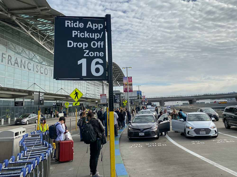 SFO-Uber pick up international terminal