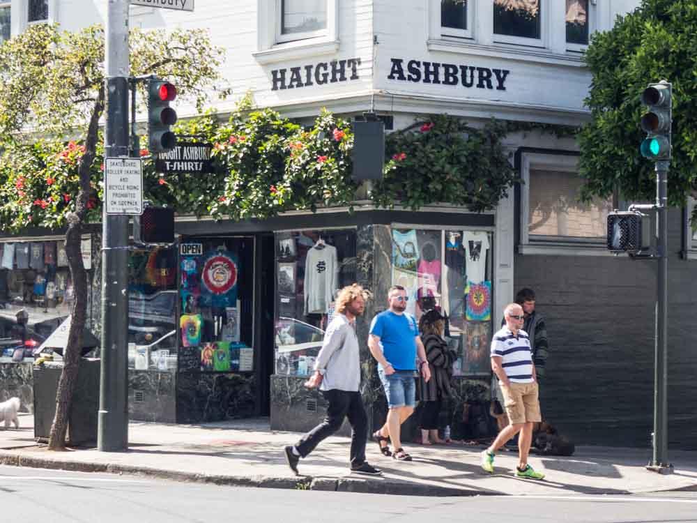 California San Francisco Haight Ashbury street corner