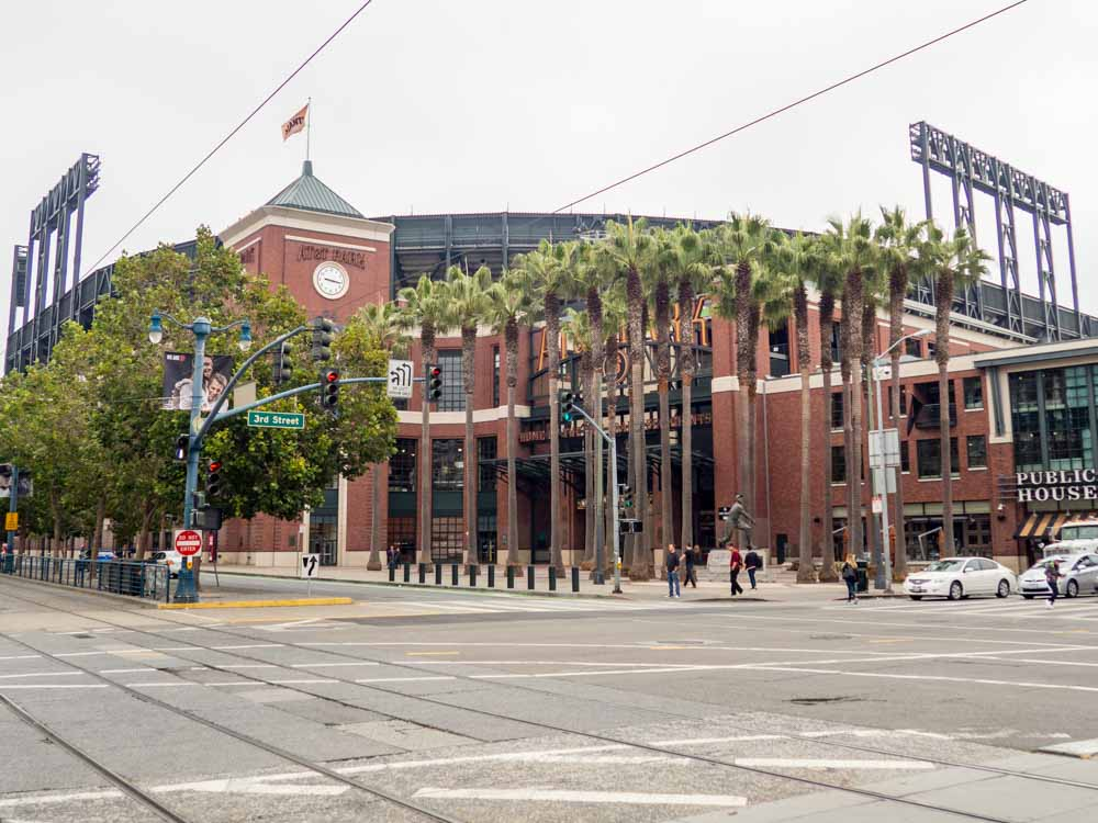 AT&T park Giants Stadium exterior in SF