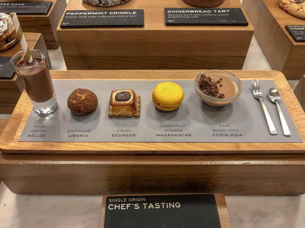 Dandelion Chocolates San Francisco chefs tasting sampler