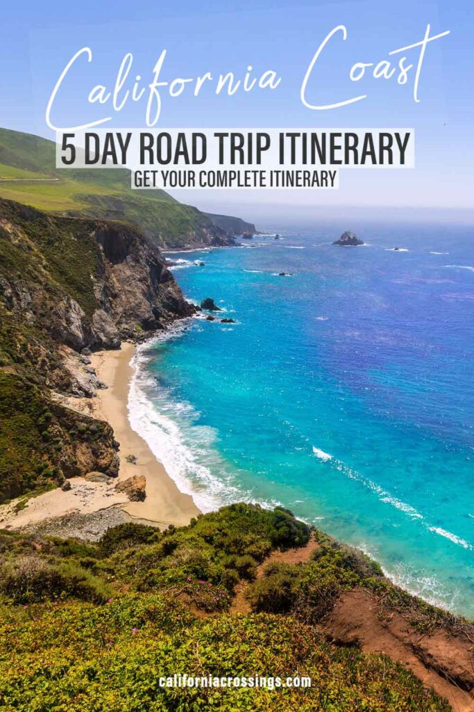Pacific Coast Highway drive road trip itinerary.