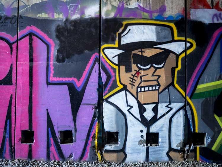 Tahoe Donner Summit tunnels graffiti