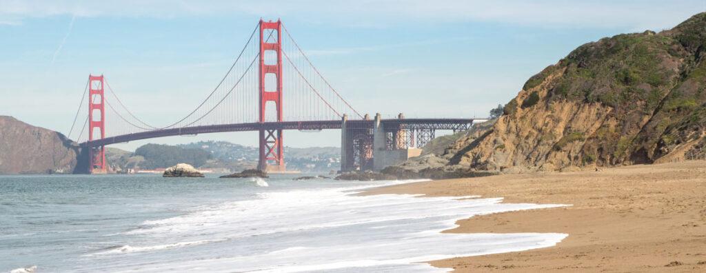 California Crossings travel Golden Gate bridge baker beach