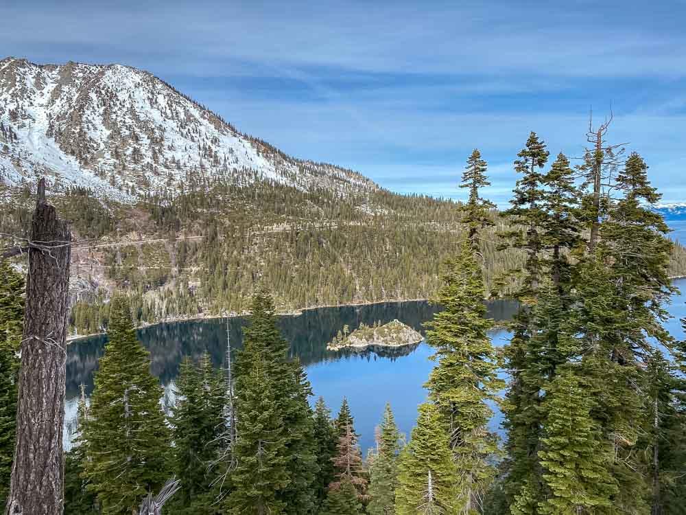 Lake Tahoe Emerald Bay Overlook in winter