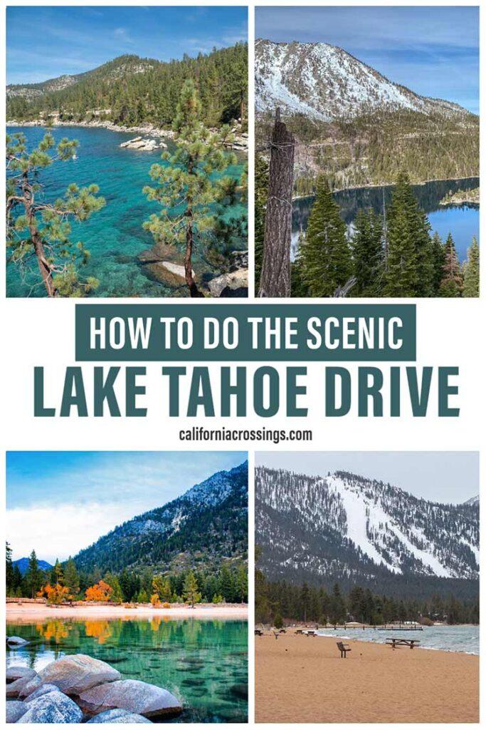Driving around Lake Tahoe scenic drive