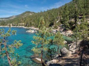 Lake Tahoe scenic drive: Emerald Cove Nevada