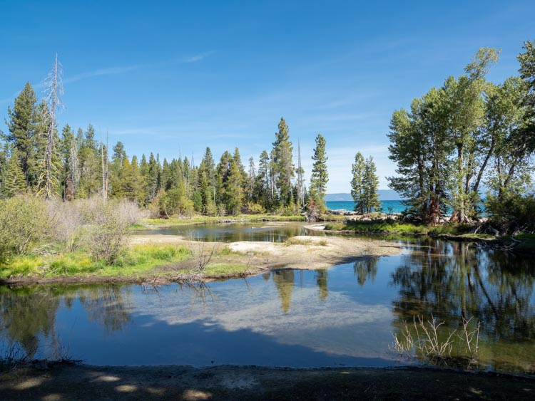Lake Tahoe's Sugar Pine state park pond