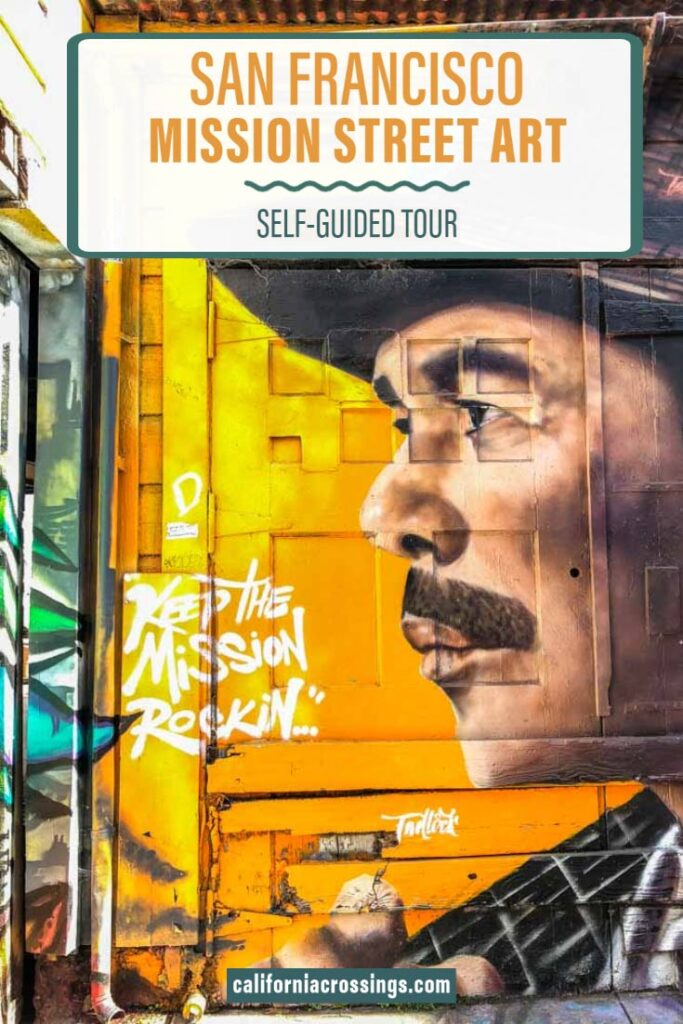 san francisco mission street art guide. Carlos santana mural
