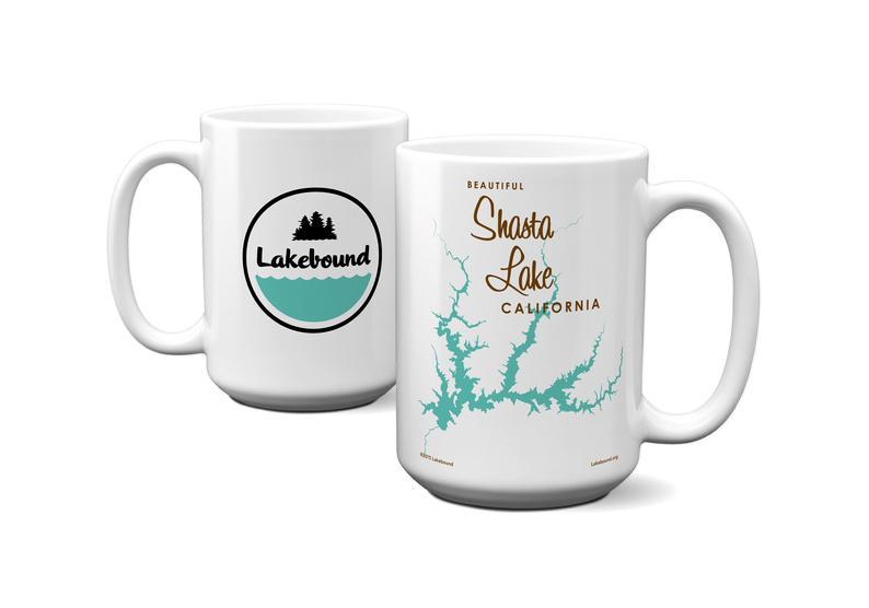 California themed gifts lake shasta mug