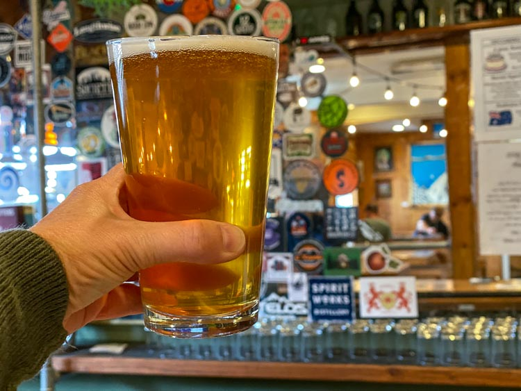South Lake Tahoe brewery - Sidellis. Beer pint