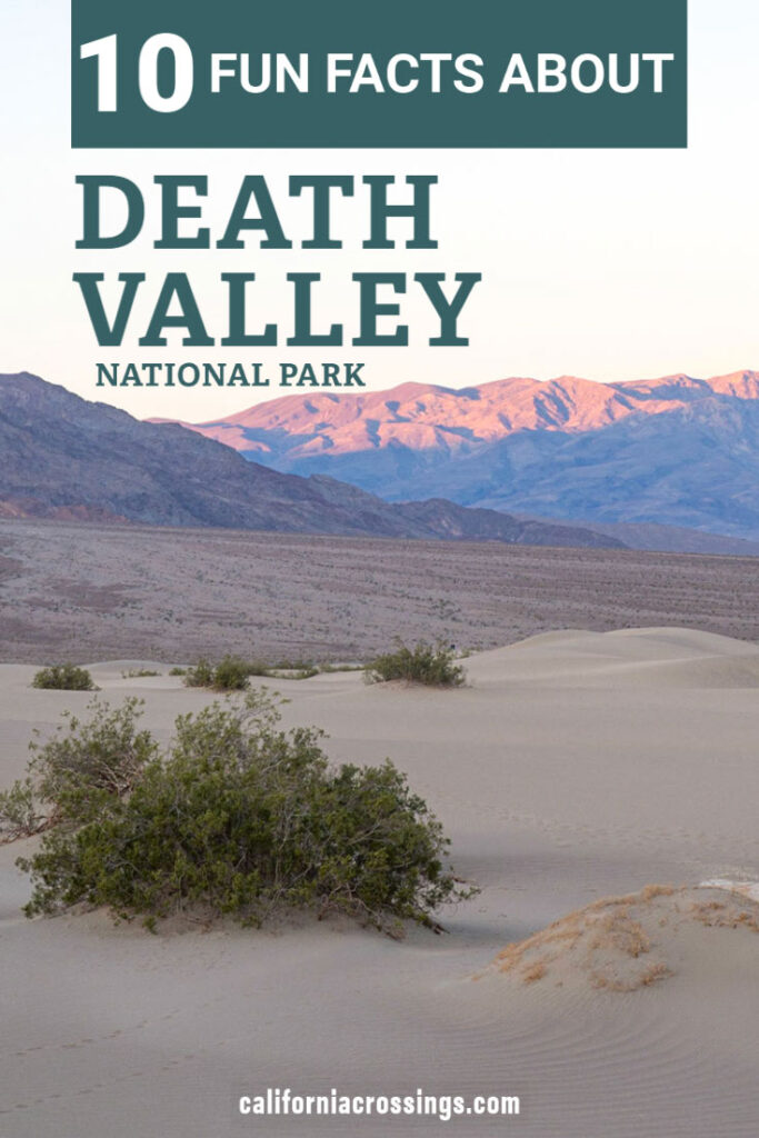 10 fun facts about Death Valley National Park