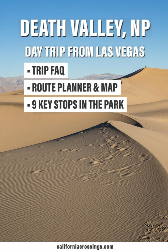 Las Vegas to Death Valley itinerary, FAQ, route map, top stops