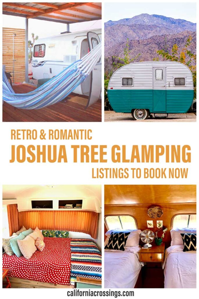 Retro Joshua Tree glamping rentals on airbnb book now