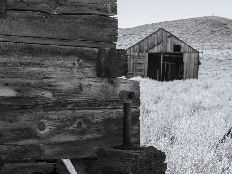 The grounds of Bodie ghost town state park