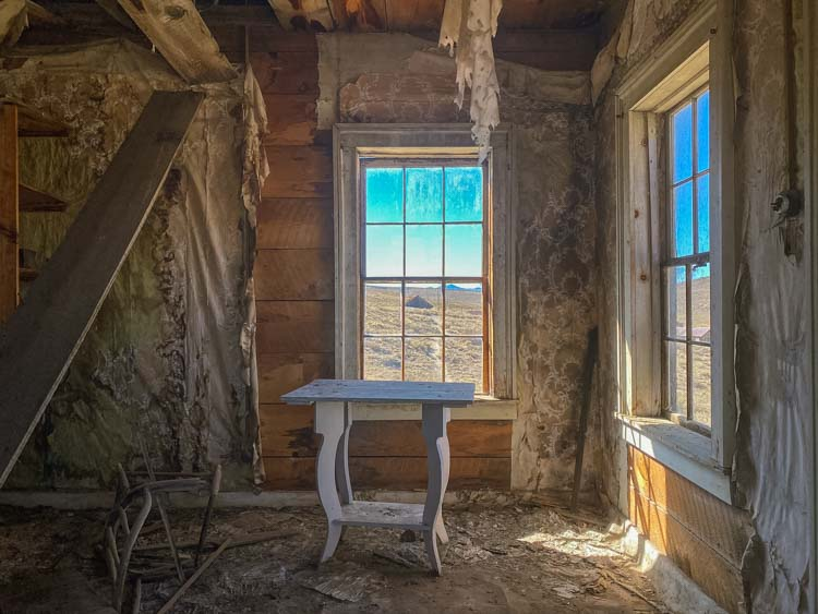 Bodie ghost town house interior