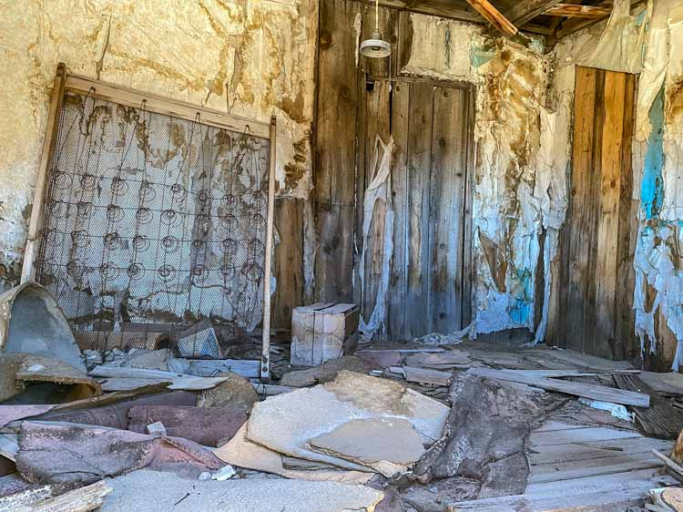 Bodie ghost town rooming house