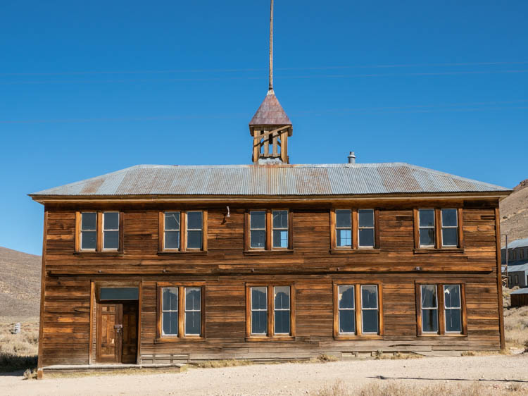 Bodie State Park schoolhouse