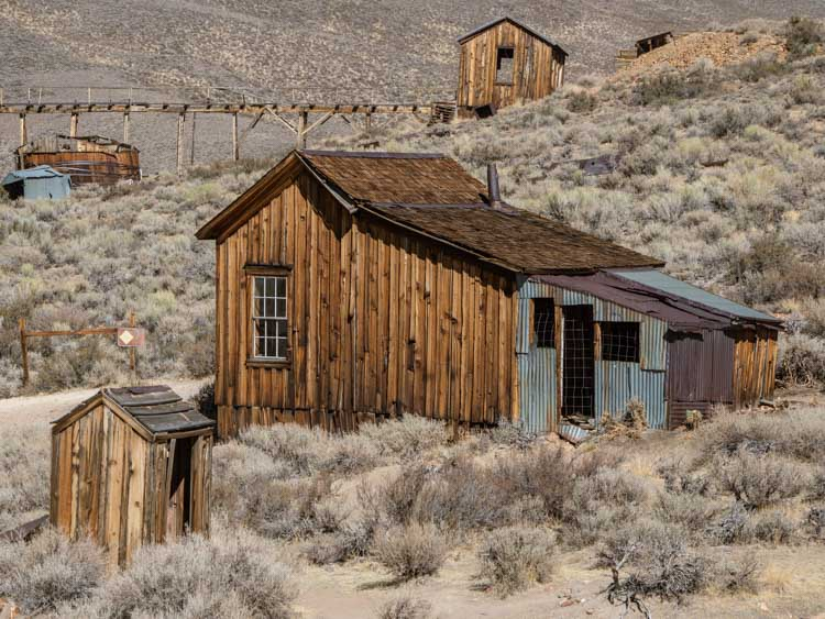 Bodie state park wagon building and shed