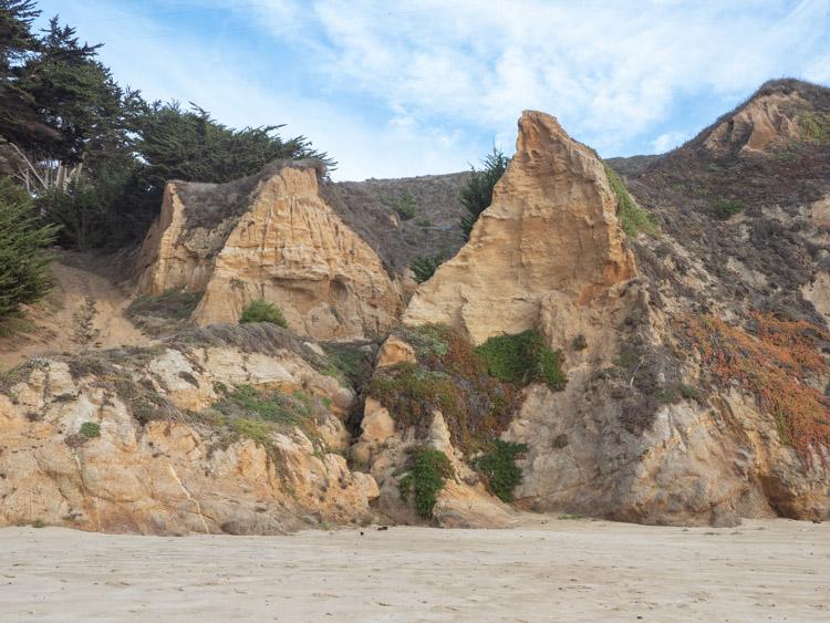 Grey Whale Cove California beach cliff