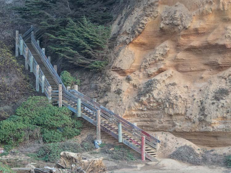 Grey Whale Cove beach stairs