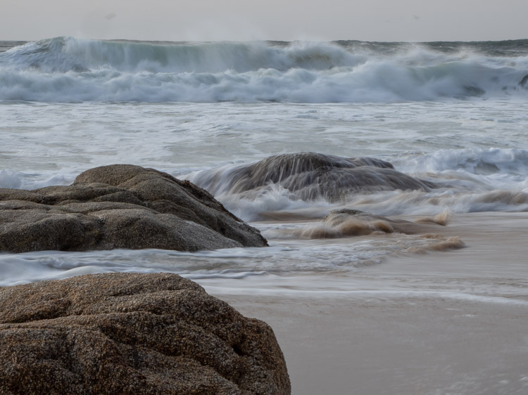 Grey Whale Cove state beach surf