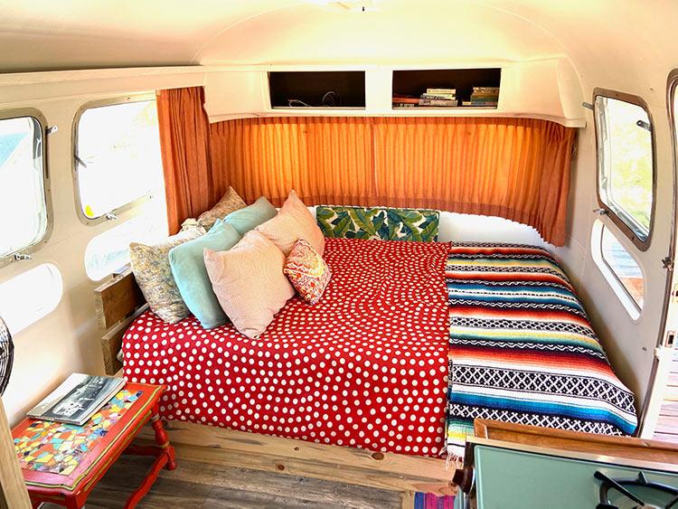 Joshua Tree Airstream trailer Land Yacht interior