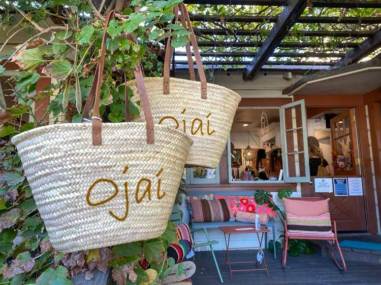 Ojai hippie town California straw bag