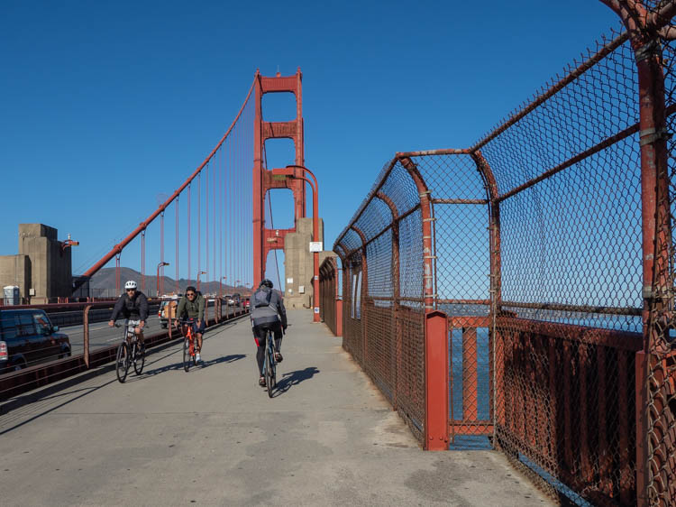 Bike on the Golden Gate Bridge SF