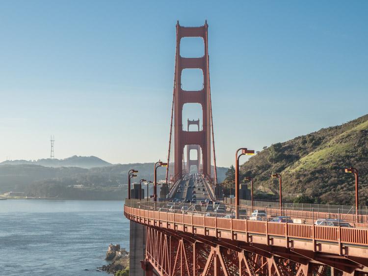 Golden Gate Bridge Vista Point south end