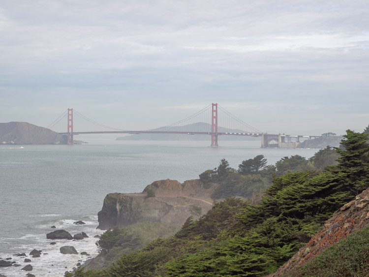 View of Golden Gate Bridge from Lands End