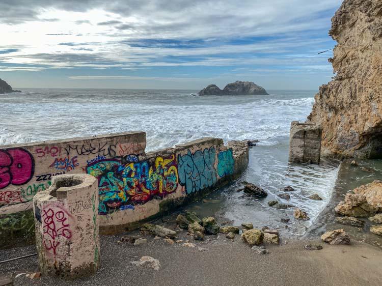 SF Sutro Baths graffiti in Lands End