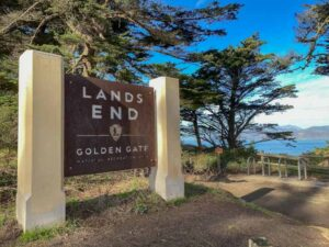 Lands End hike in San Francisco sign